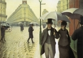 """Carrer de París, un dia de pluja"" (1871), de Gustave Caillebotte. The Art Institute of Chicago."