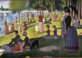 """Tarda de diumenge a l'illa de la Grande Jatte"" (1884-86), de Georges Seurat. The Art Institute of Chicago."